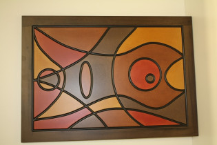 Wooden Fish Abstract Wall Art (Finished)