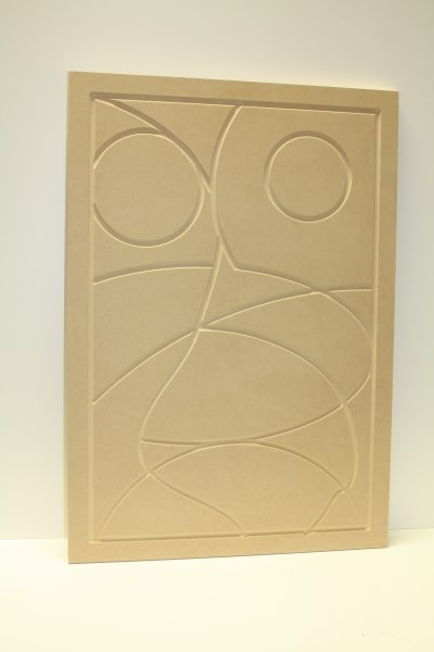 Wooden Abstract Wall Art (Unfinished)